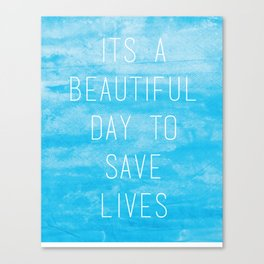 Grey's Anatomy McDreamy Quote Canvas Print