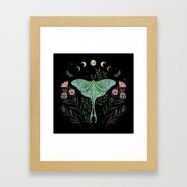 Luna Moth and Foresters Framed Art Print
