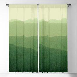 gradient landscape green Blackout Curtain