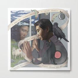 Haruki Murakami Metal Print