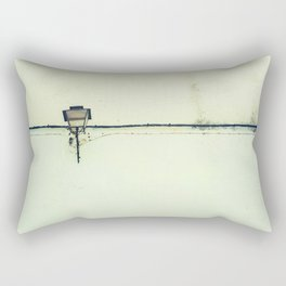 Retro white streetlight Rectangular Pillow