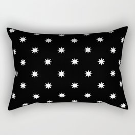 stars 56- black and white Rectangular Pillow