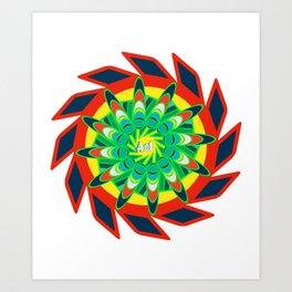 Cierra mandala pattern Art Print