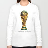 world cup Long Sleeve T-shirts featuring World Cup by Rothko