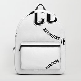 Lacrosse Coach print Gift with a Great Graphic Design Backpack