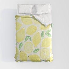 Summer Lemons Comforters