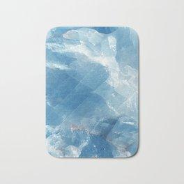 Blue marble calcite Bath Mat