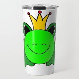 Funny drawn frog Travel Mug