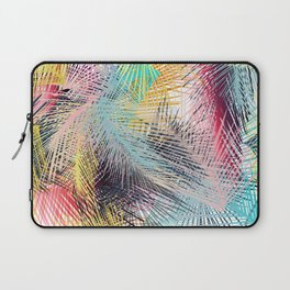 Jungle pampa colorful forest. Tropical fresh forest pattern with palms Laptop Sleeve