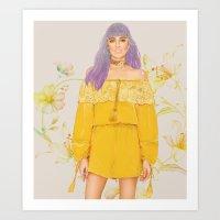 Sunny Honey Art Print