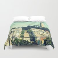 san francisco Duvet Covers featuring San Francisco by Mr and Mrs Quirynen