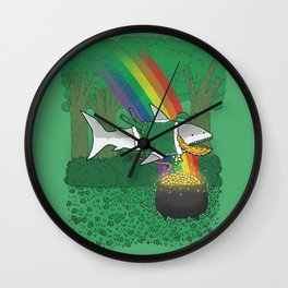 The Lucky Shark Wall Clock