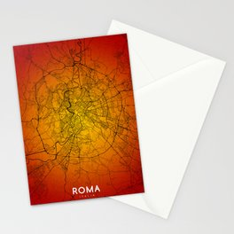 Roma map Stationery Cards
