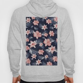 Tropical Flowers Palm Leaves Finesse #6 #tropical #decor #art #society6 Hoody