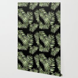 palm areca - black Wallpaper
