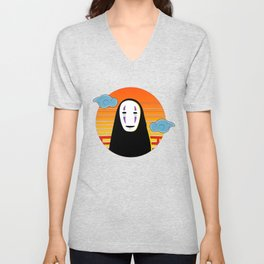 No Face a Lonely Spirit Unisex V-Neck