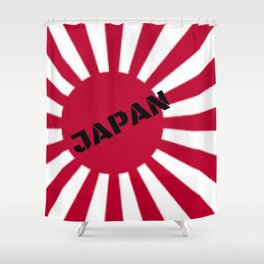 Japanese Flag Shower Curtain