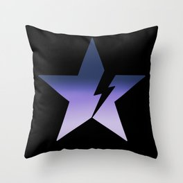 Blackstar not black Throw Pillow