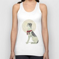 greyhound Tank Tops featuring GREYHOUND by HOLO-HOLO