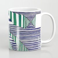 stripes Mugs featuring Stripes by Take F1ve