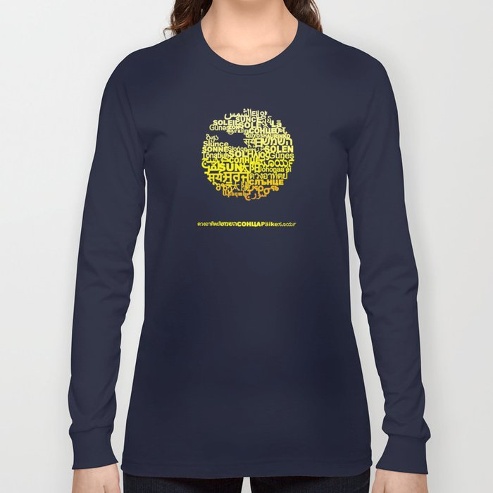 Sun in Different Languages Long Sleeve T-shirt