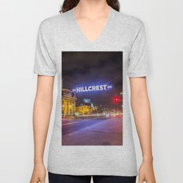 Hillcrest (San Diego) Sign - SD Signs Series #3 Unisex V-Neck