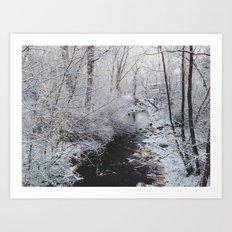 Winter Creek Art Print