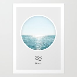 Water Element, Circle Print Art Print