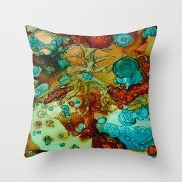 flora beginnings Abstract Throw Pillow