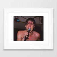 iggy pop Framed Art Prints featuring Iggy Pop by Steven Macanka