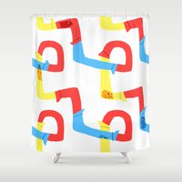 hamster Shower Curtains featuring Hamster tube fun time by stephasocks