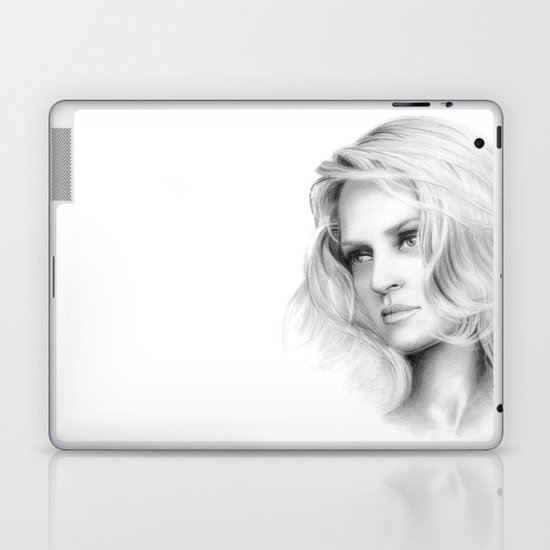 Uma Thurman Laptop & iPad Skin
