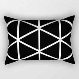 BLACK & WHITE TRIANGLES 2 Rectangular Pillow