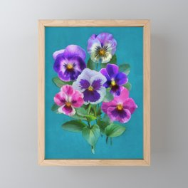 Bouquet of violets I Framed Mini Art Print