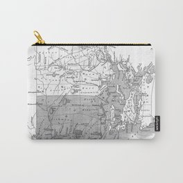 Vintage Map of Rhode Island (1827) BW Carry-All Pouch
