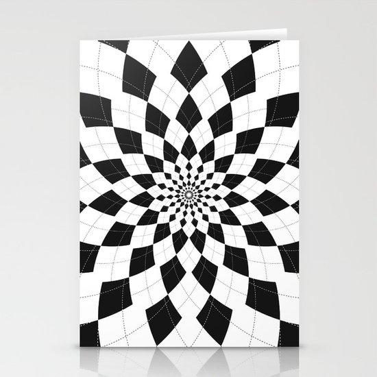 Black & White Argyle Stationery Cards