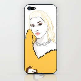 CHRISTINA AGUILERA LIBERATION Yellow Fur Jacket iPhone Skin