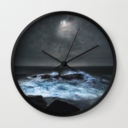 Moonlit Shoals Wall Clock