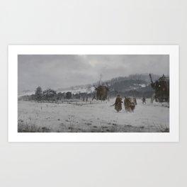 1920 - winter patrol Art Print