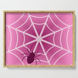 Spider web in pink Serving Tray