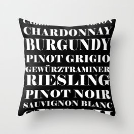 Wine Celebration - black Throw Pillow