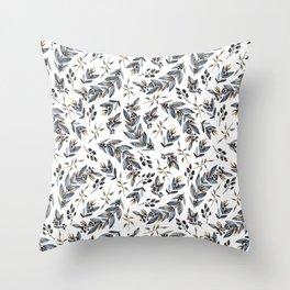 Grey branches Throw Pillow