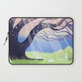 Soft Light On Soft Bunnies In Aloquil's Glades Laptop Sleeve