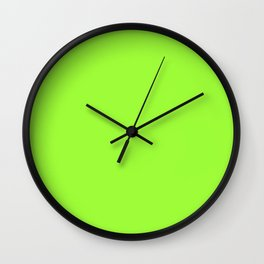 French Lime - solid color Wall Clock