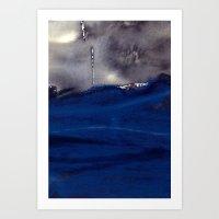 storm Art Prints featuring storm by agnes Trachet
