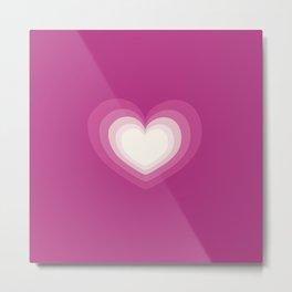 Love love love heart, hot pink, love heart pattern Metal Print
