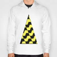 yellow pattern Hoodies featuring Yellow and black pattern by LoRo  Art & Pictures