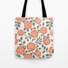 Retro roses Tote Bag