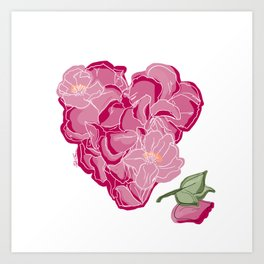 Heart of flowers Art Print