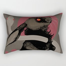 Moonlight (red version) Rectangular Pillow